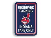 Fremont Die 60205 Plastic Parking Signs  - Clevelands Indians