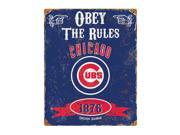 Chicago Cubs Vintage Metal Sign