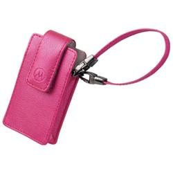 Motorola Cell Phone Fashion Pouch - Leather - Magenta
