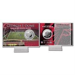 Falcons Georgia Dome Silver Coin Card
