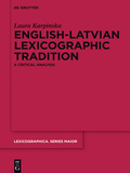 This book provides a comprehensive survey of the development of the English-Latvian lexicographic tradition considering the extra-linguistic factors which have influenced it