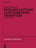 English-latvian Lexicographic Tradition