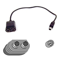 Belkin Notebook Y-splitter Cable - Mini-din (ps/2) Male - Mini-din Female - 1ft - Black F3g117-01