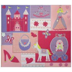 Amanda Blue Embellished Fabric Album 12 X12