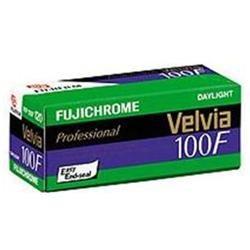 Fujifilm Fujichrome Velvia RVP 100F Color Slide Film, ISO 100, 120 Size, Transparency, USA