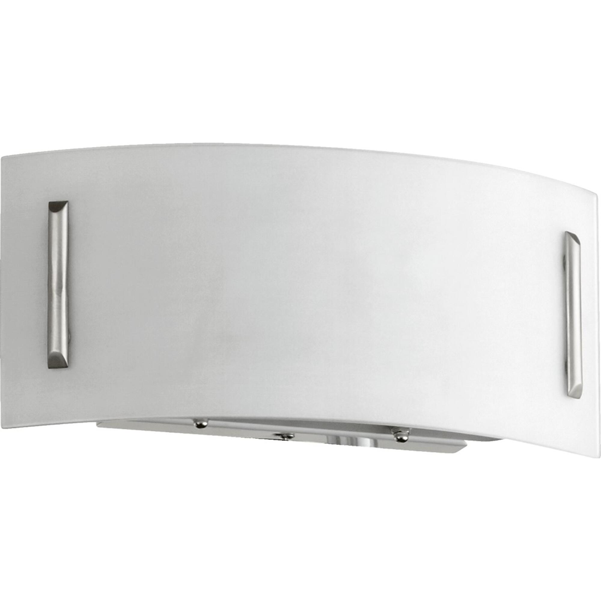 1-Light Wall Sconce Satin Nickel by Quorum. Modern Design Perfect for bathroom, hallway, or covered patio