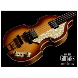 Hofner H500/1-62-O Vintage Reissue '62 Violin Bass Electric Bass Guitar (Sunburst, SN:P02263)