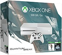 B Xbox One  b  br    br    b 500GB Special Edition Quantum Break Bundle  b   p Own the Xbox One Special Edition Quantum Break Bundle, featuring the Cirrus White console and controller, and a 500GB hard drive