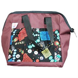 Bingo Party 6-pocket Tote Bag Maroon