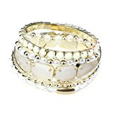 Aokdis (TM) Korean Style New Fashion Hot Girls Lady Women Exquisite Pearl Hollow Bracelet Jewelry (Cute Beige)