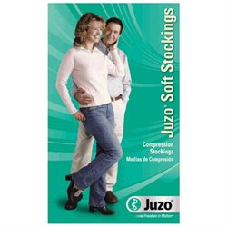 Juzo 2001ATOC10 V Soft Pantyhose Open Toe Open Crotch - Black