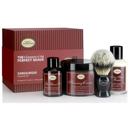 The Art Of Shaving Full Size Kit With Pure Badger Black Brush - Sandalwood