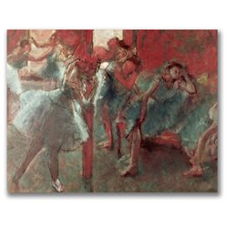 Edgar Degas 'Dancers at Rehearsal 1895-98' Canvas Art