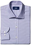 Buttoned Down Men's Slim Fit Spread-Collar Small Geo Non-Iron Dress Shirt, pink/blue, 15 33