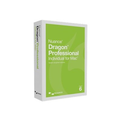 Nuance Communications S601a-f02-6.0 Dragon Professional Individual For Mac - (v. 6) - Box Pack - 1 User - Academic - Online Validation - Mac - English