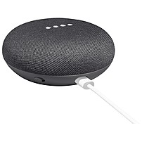 Google Home Mini Smart Speaker - Wireless Speaker(s) - Charcoal - 360? Circle Sound - Wireless Lan - Bluetooth - Voice Command, Multi Device Pairing, Chromecast, Chromecast Audio, Micro Usb Port, Smart Home Hub, Built-in Microphone - Google Assistant Supp Ga00216-us