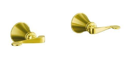 KOHLER K-16217-4-PB Revival Two-Handle Wall-Mount Bath Valve Trim, Vibrant Polished Brass
