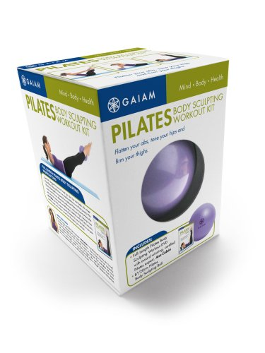 Gaiam Pilates Body Sculpting Workout Kit: Pilates Ball & DVD