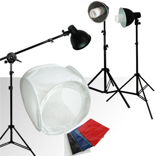 Loadstone Studio Table Top Photo Photography Studio Lighting Light Tent Kit in a Box - 1 x 30 Tent,