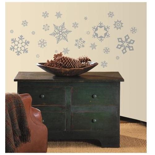Seasonal Glitter Snowflakes Peel and Stick Wall Decal