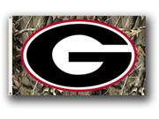 Bsi Products 95407 3 Ft. X 5 Ft. Flag W/Grommets - Realtree Camo Background - Georgia Bulldogs