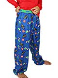 Lego Batman Boys Flannel Lounge Pajama Pants (6-7, Blue)
