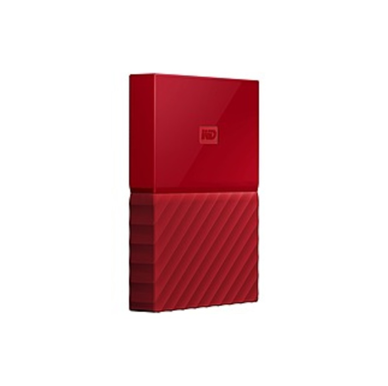 Wd My Passport Wdbyft0020brd-wesn 2 Tb External Hard Drive - Portable - Usb 3.0 - Red - 256-bit Encryption Standard