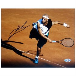 James Blake Red Clay Follow Through Signed 8x10 Photo