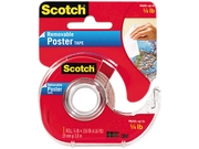 Scotch 109 Wallsaver Removable Poster Tape, Double-Sided, 3/4