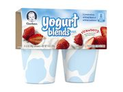 Gerber Yogurt Blends Snack Strawberry 3.5 Ounce - 4 Pack