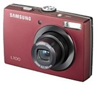 Samsung Ec-l100zrba/us L100 8.2 Megapixels 3x Optical Zoom Digital Camera - Red