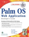 Palm Os Web Application Developers Guide: Including Pqa And Web Clipping