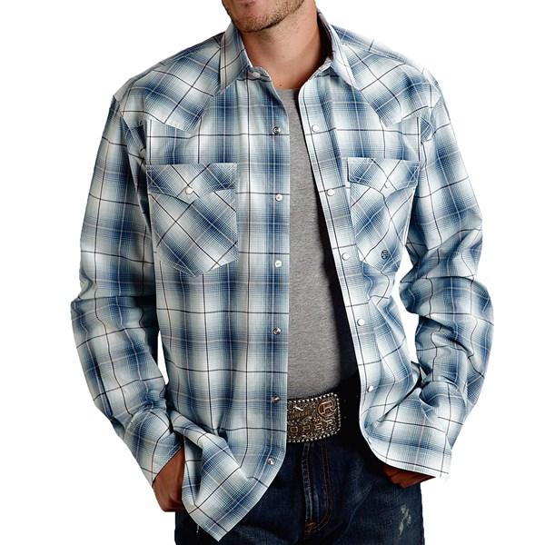 Roper Amarillo Plaid Shirt - Pearlized Snaps, Long Sleeve (for Men)
