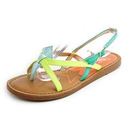 Sam Edelman Mae Womens Green Open Toe Slingback Sandals Shoes New/Display