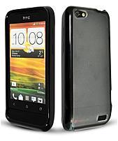 Technocel Htconevhgbk Hybrigel Protective Cover For Htc One V - Black, Clear