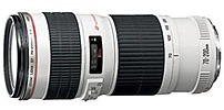 High performance, L series telephoto zoom lens combining light weight and compactness with an f 4 maximum aperture