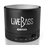 LiveBass Portable Wireless Bluetooth Speaker - High Quality Bass System - Home, Outdoor & Travel Use (Charcoal Black)