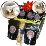 cgb_184659_1 Spiritual Awakenings-Animals - Out of Africa map background and Elephant herd and Lions - Coffee Gift Baskets - Coffee Gift Basket