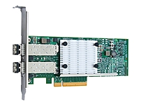 The QLogic reg  8400 Series Converged Network Adapters support simultaneous LAN  TCP IP  and SAN  Fibre Channel over Ethernet   91 FCoE  and iSCSI  traffic at 10Gbps Ethernet  GbE  line rate speeds