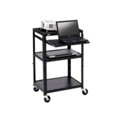 Bretford Manufacturing A2642nse Basics Adjustable Projector Cart A2642nse - Cart For Projector / Notebook - Steel - Black Powder - Screen Size: Up To 20