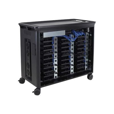 Hp Inc. T9e85aa#aba 30 Managed Charging Cart V2 - Cart Charge And Management For 30 Notebooks ( Open Architecture ) - Lockable -  Black - Screen Size: 10.1-15.6