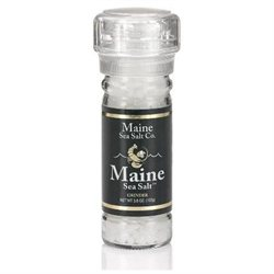 Natural Maine Sea Salt from Maine Sea Salt - 3.6 Ounce Grinder