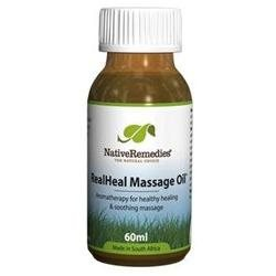 Native Remedies RHL002 RealHeal Massage Oil for Relieving Pain and Promoting Healing - 60ml