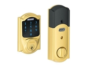 Schlage BE469NXCAM605 Keyless Entry , Deadbolt, Polished Brass