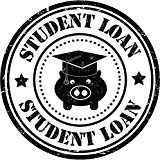 Student Loan Education Funny Pig Grunge Stamp Sticker Decal Design 5