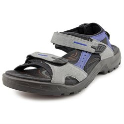 Ecco Yucatan Womens Gray Open Toe Leather Sports Sandals Shoes