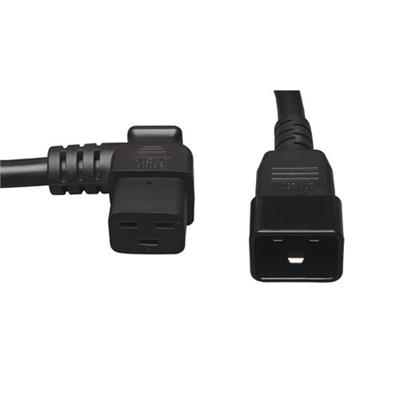 Tripplite P036-002-19la Heavy-duty Power Extension Cord  20a  12awg (left Angle Iec-320-c19 To Iec-320-c20)  2-ft.