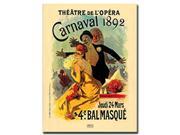 Teatre de L'Opera Carnaval 1892 by Jules Cheret- 24x32