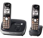 Panasonic KX-TG6512B DECT 6.0 Cordless Phone w/ 1 Additional Handset
