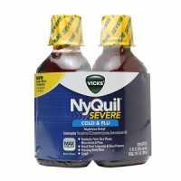 Vicks Flu Nighttime Relief Berry Flavor Liquid Twin Pack, 2 X 12 Fl Oz